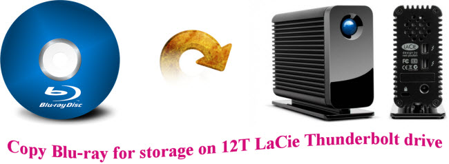 copy blu ray for storage on 12t lacie thunderbolt drive