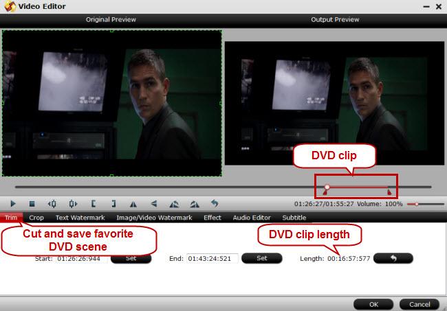 export favorite dvd scene