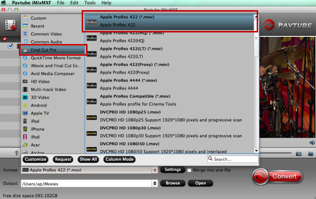 fcp x supported video format apple prores