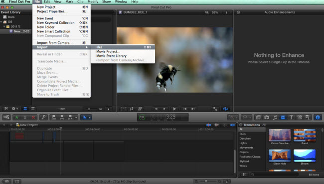 import converted canon 4k mxf to fcp x
