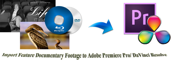 import feature documentary footage to adobe premiere resolve