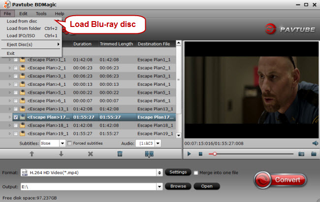 load blu ray disc for copy to lacie thunderbolt