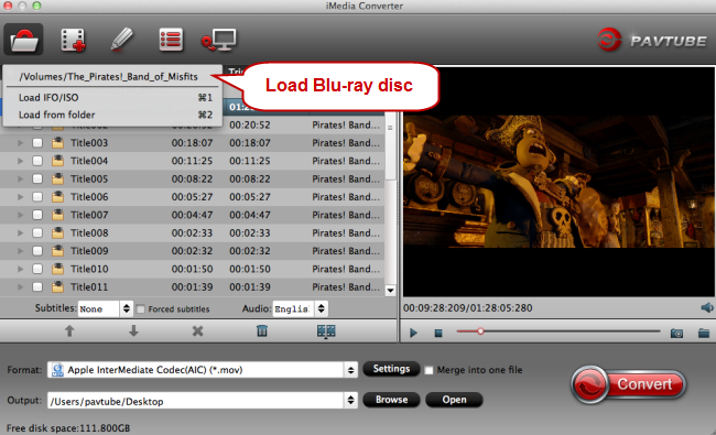load blu-ray discs for conversion to plex