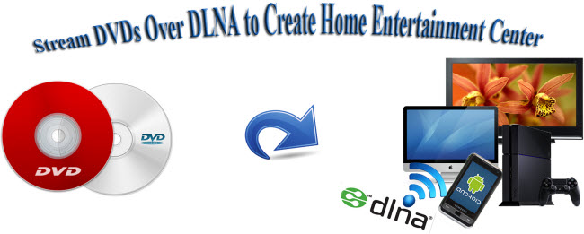 stream dvds over dlna to dlna supported devices
