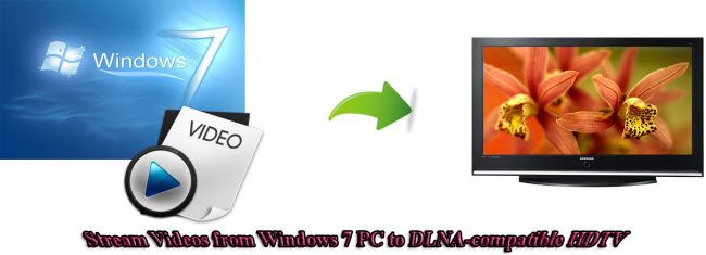 stream videos from windows 7 pc to dlna compatible hdtv