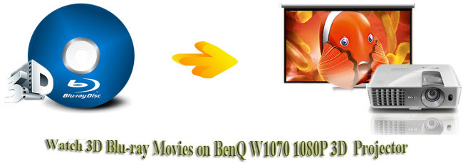watch 3d blu-ray movie on benq w1070 3d projector