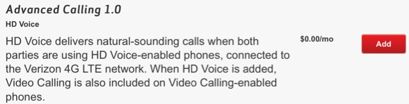 add advanced calling to iphone 6 plus