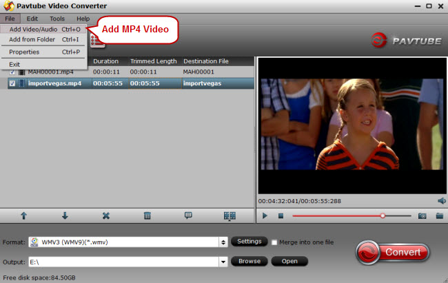 add mp4 to video converter