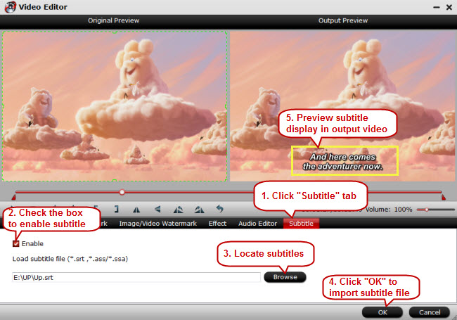 add srt subtitle to avi video iMedia Converter for Mac User Guide