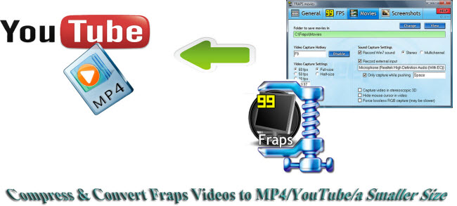convert compress fraps videos to mp4 youtube smaller size