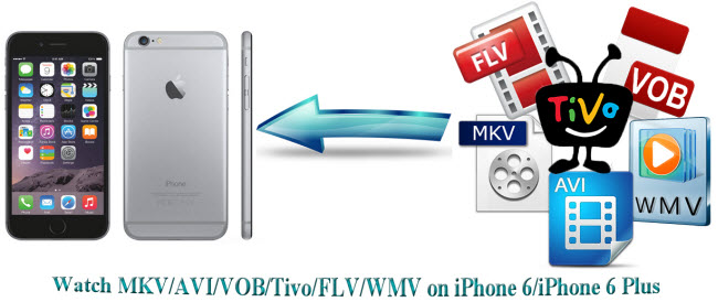 convert mkv, avi, flv, wmv, tivo, vob to iphone 6 plus