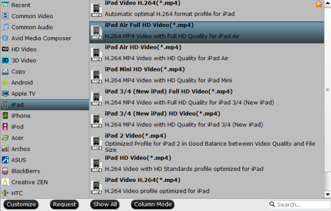 convert mts to ipad air supported video format mp4