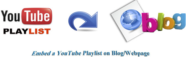 Embed a YouTube Playlist on Blog/Webpage