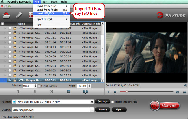 oimport 3d blu-ray iso to 3d blu-ray iso converter