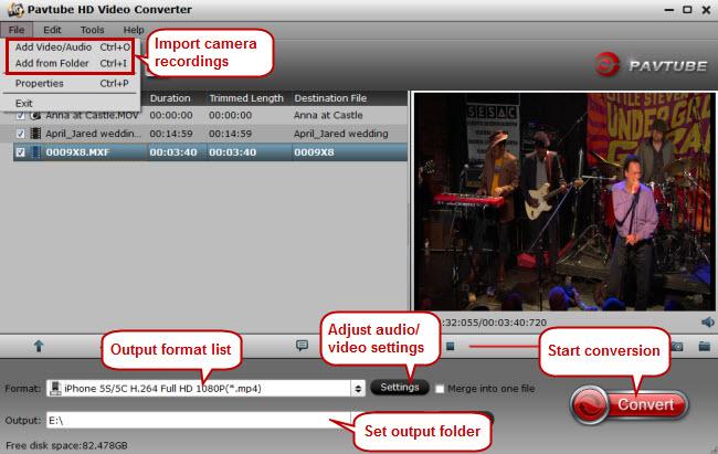 import camera videos to iphone 6 plus