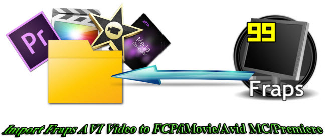 import fraps avi video to fcp imovie avid mc premiere on mac