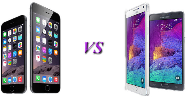 Apple iPhone 6 Plus vs Samsung Galaxy Note 4