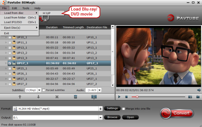 load blu ray dvd to popcorn a 400 video converter