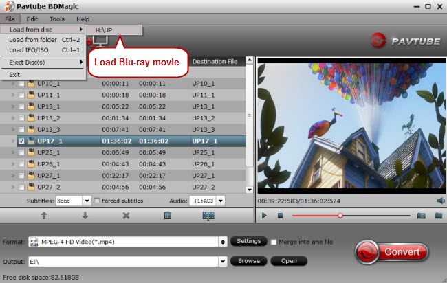 load blu-ray to blu-ray to mp4 sd card converter