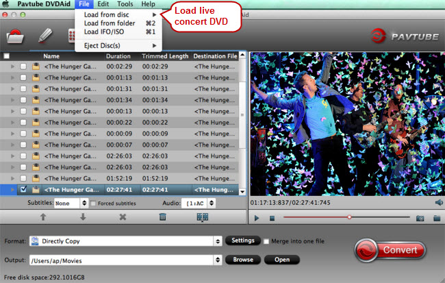load live concert dvd to best dvd converter