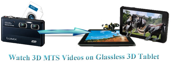 play 3d mts on glassless 3d tablet