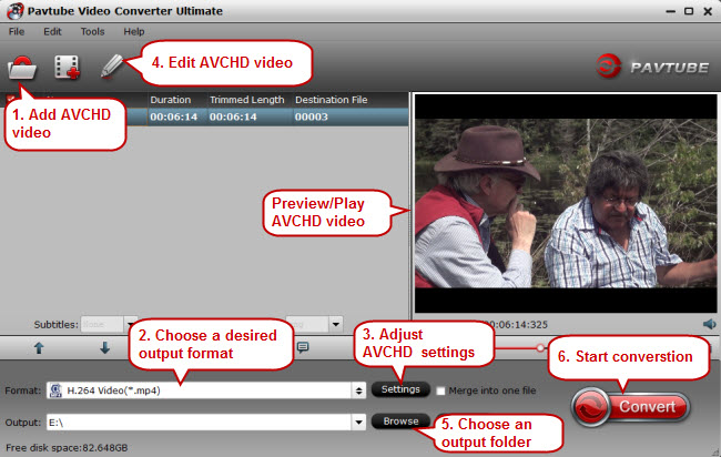 alternative AVCHD player to VLC