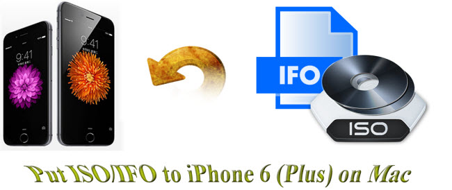 put iso ifo to iphone 6 plus on mac