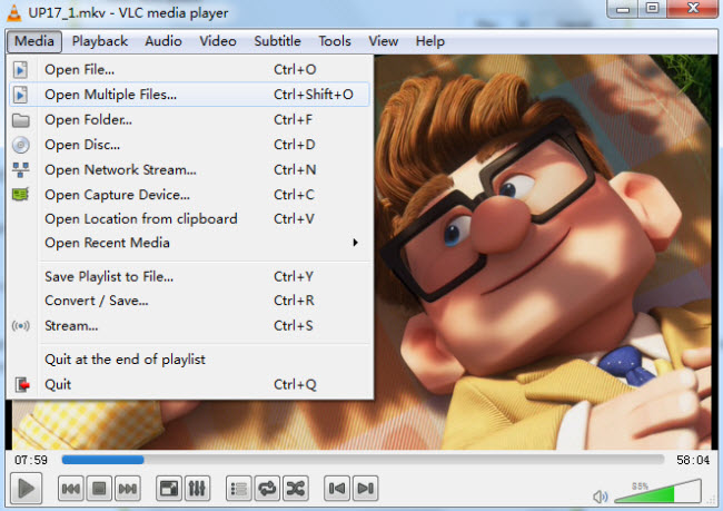 vlc open multiple=