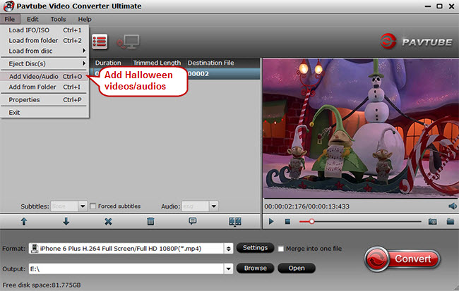 import halloween video audio to tablet smartphone