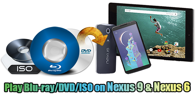 blu-ray dvd iso to nexus 6 9