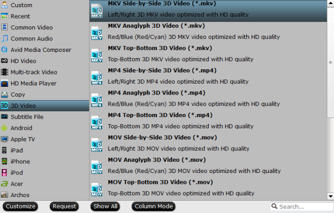 convert 3d blu-ray for watching 3d blu-ray on 3d tv