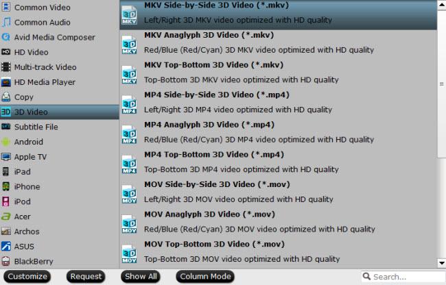 convert 3d blu-ray to 3d format