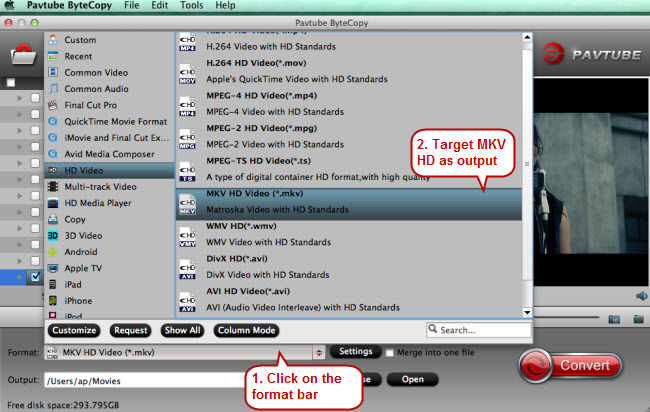 convert dvd to mkv for mede8er media player