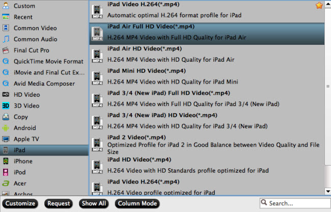 convert self made blu-ray to ipad supported video foramt