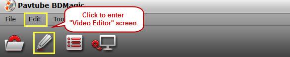 enter video editor screen