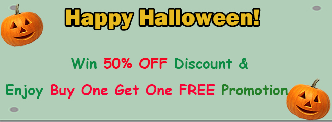 halloween discount promotion