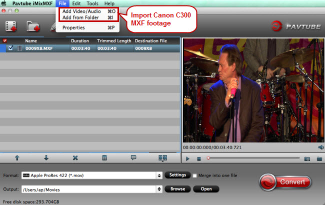 import mxf to mxf to fcp converter