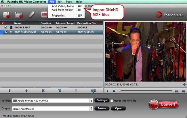 Import Hyperdeck Shuttle 2 DNxHD MXF Files to FCP
