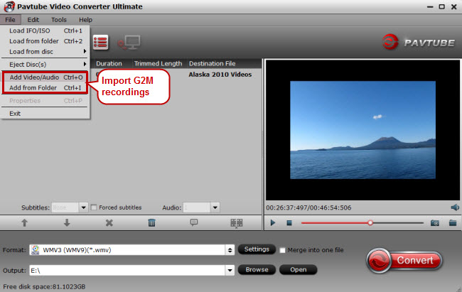 import g2m recordings to g2m converter