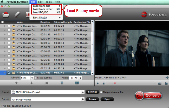 load blu-ray movie for drobo 5n