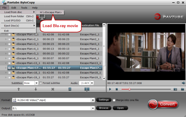 load blu-ray movie to blu-ray converter ripper