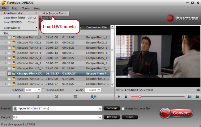 load dvd movie to dvd to itunes converter