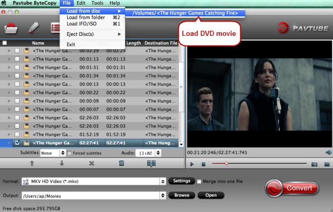 load dvd movie