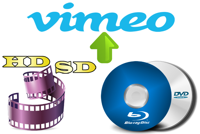 upload sd hd blu-ray dvd to vimeo