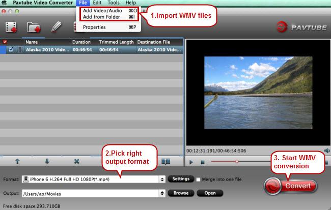 Convert WMV files on Mac El Capitan