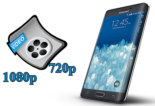 watch 1080p 720p hd video on galaxy note edge