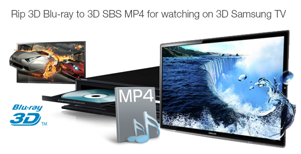 convert 3d blu-ray to 3d sbs mp4 for tv