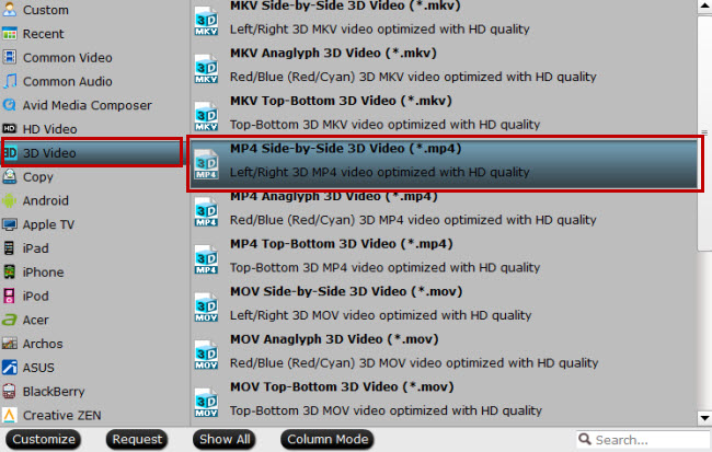 convert 3d blu-ray to 3d sbs mp4