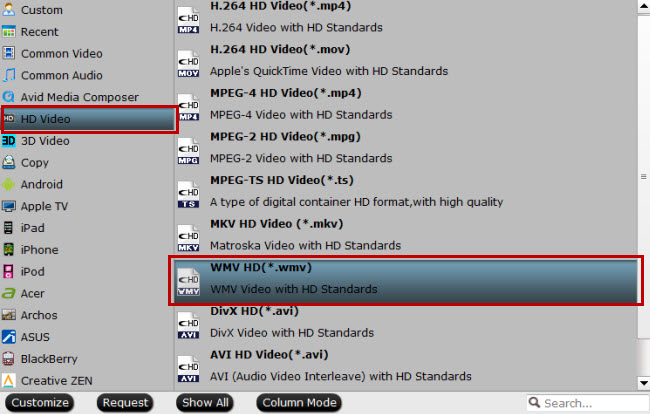 convert blu-ray to wmv hd