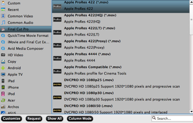 convert h.264 mp4 to apple prores mov